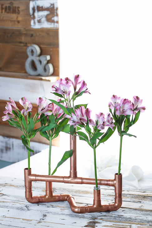 Copper Pipe Centerpiece