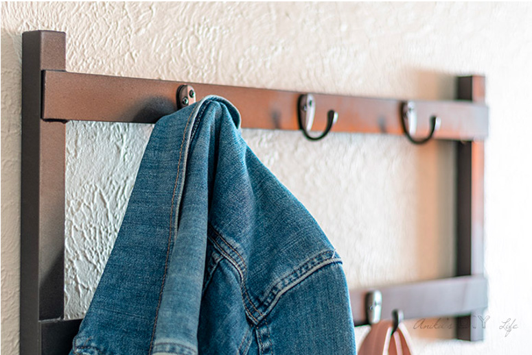 DIY Metal Coat Rack