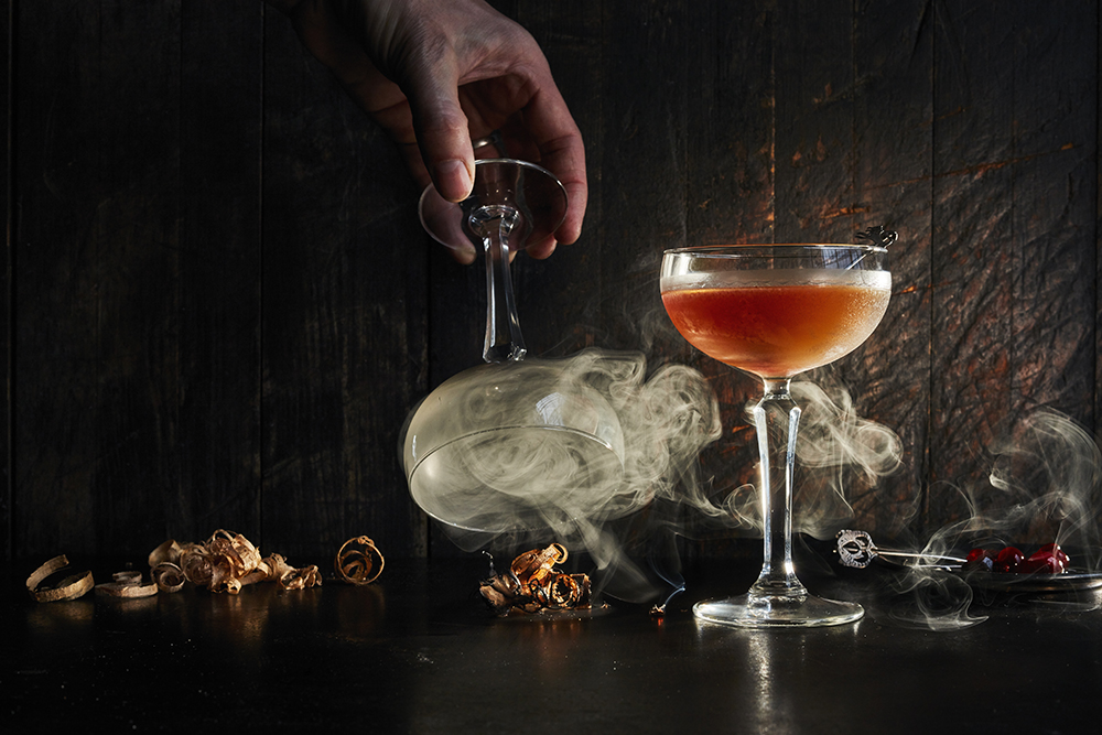Smoked Manhattan Cocktail Bernzomatic