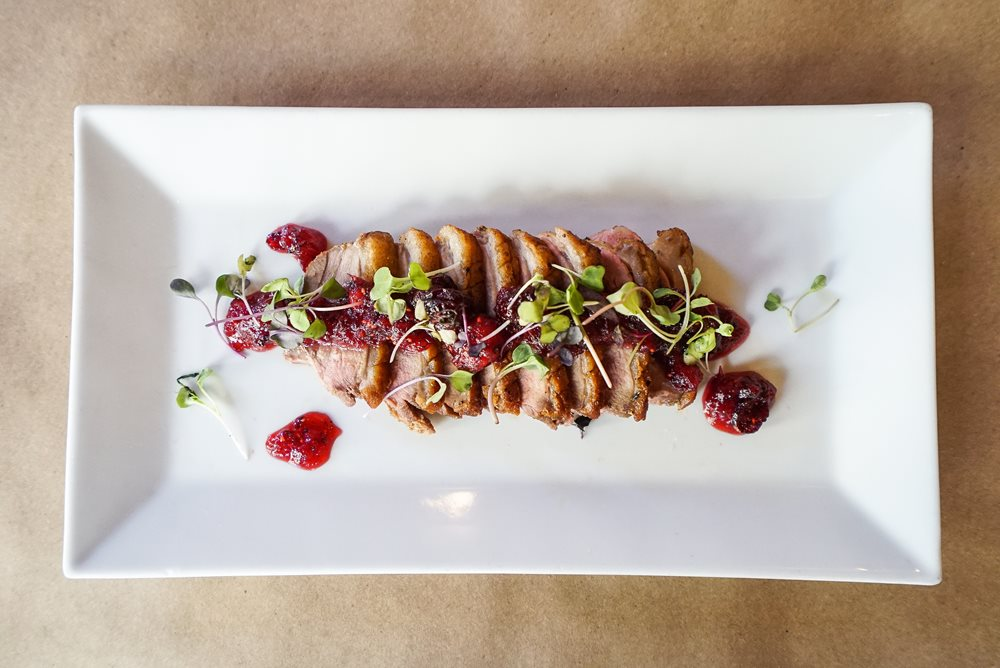 Duck Breast With Charred Cranberry Chutney