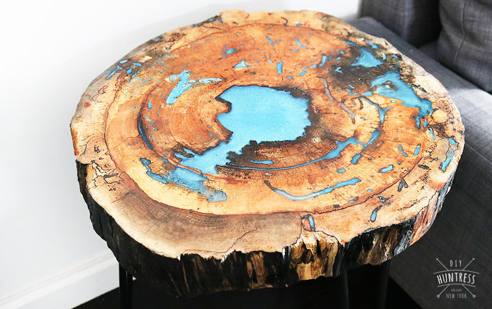 Completed resin table