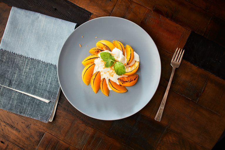 Charred Peaches & Cream
