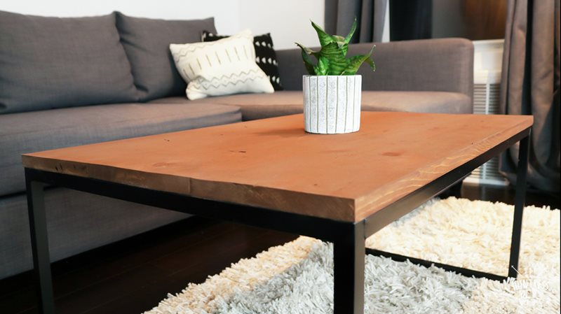 Wood and aluminum table