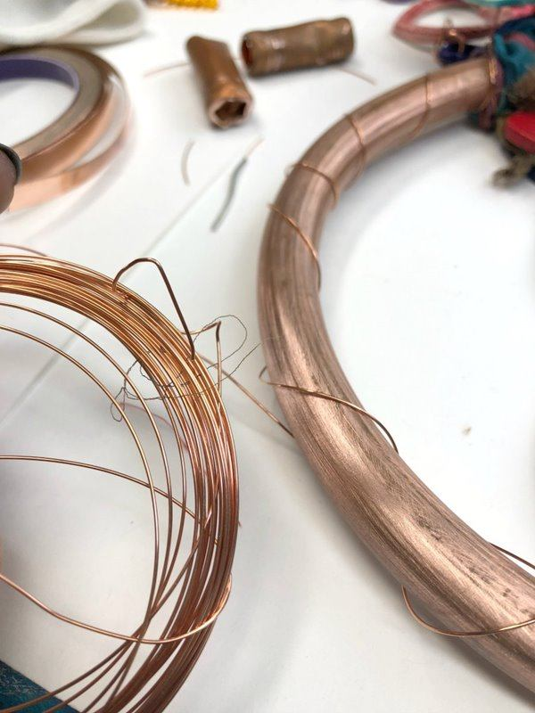 Circle wrapped with wire