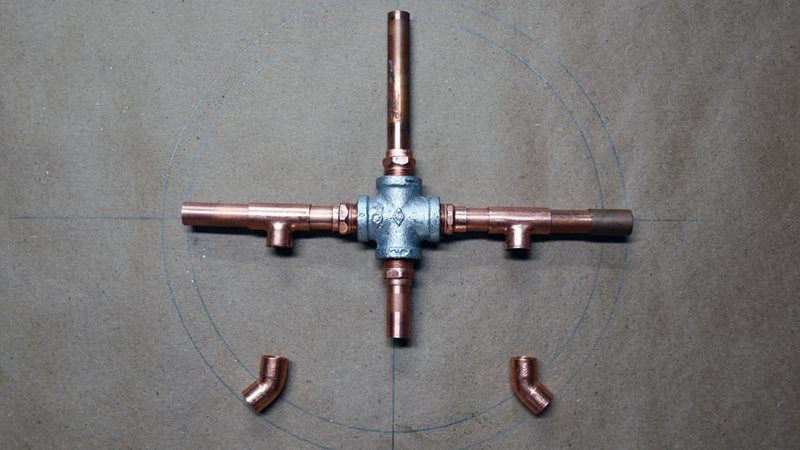 Copper lamp layout