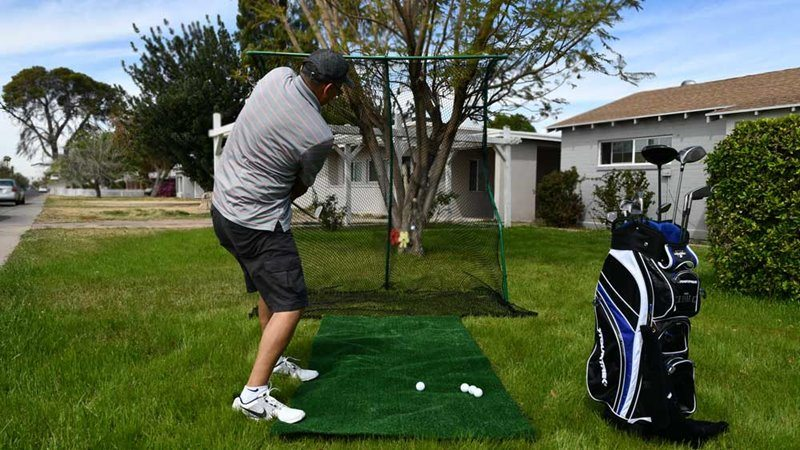 Using golf net